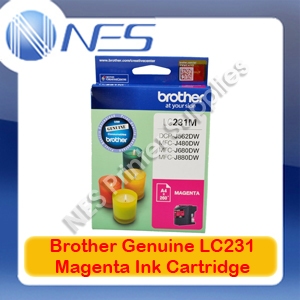 Brother Genuine LC-231M MAGENTA Ink Cartridge for DCP-J562DW/J480DW/J680DW/J880DW