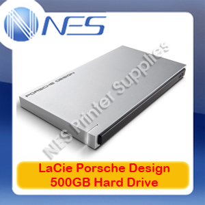 LACIE P'9223 500GB Porsche Design USB 3.0 Portable Slim Hard Drive [P/N:9000304]