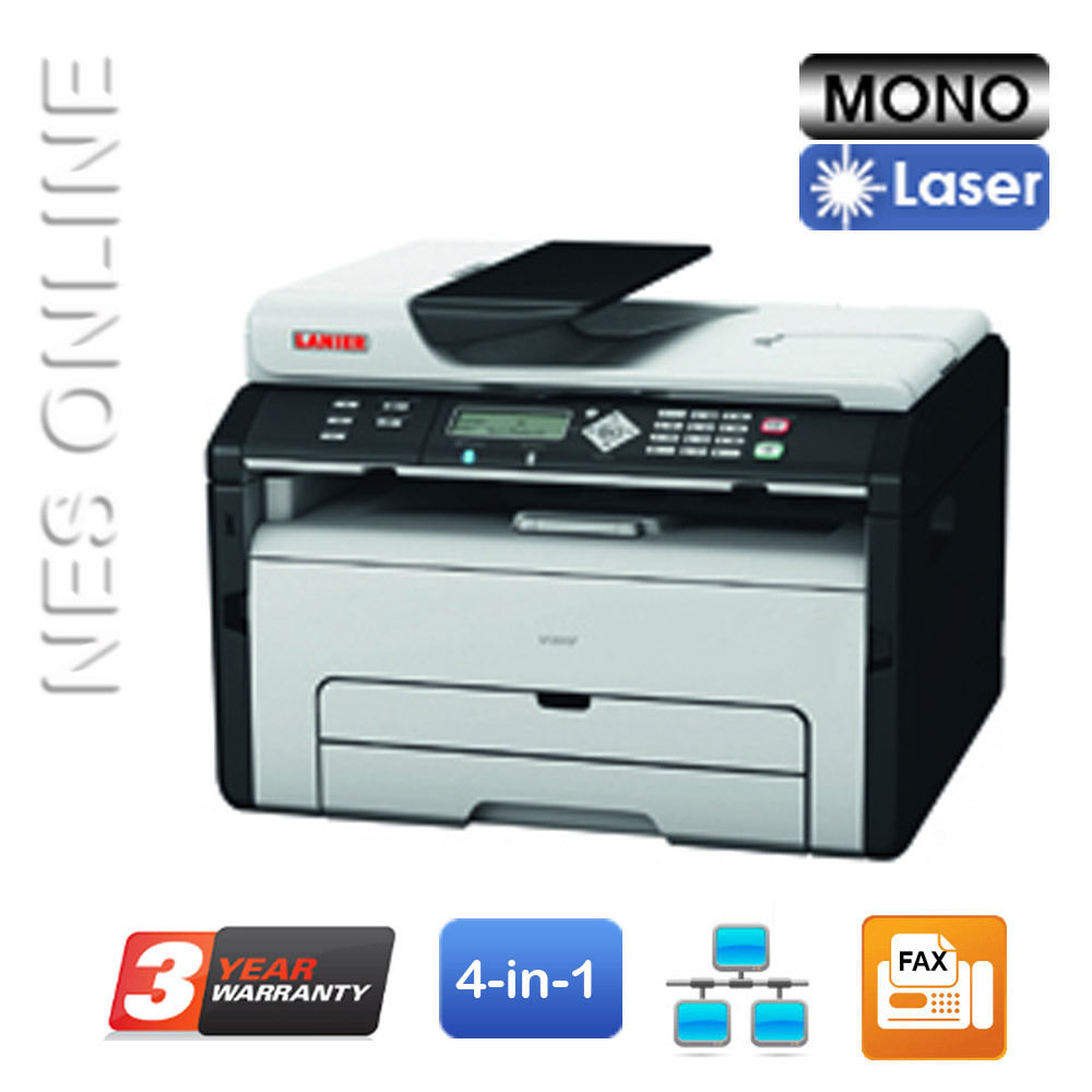 Lanier/Ricoh SP204SF 4-in-1 B&W Laser MFP Printer+BONUS:3-Year Warranty (P/N:407213) RRP$383