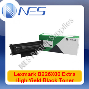 Lexmark Genuine B226X00 Extra High Yield BLACK Toner for B2236dw/MB2236adwe 6K Pages
