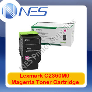 Lexmark Genuine C2360M0 MAGENTA RETURN PROGRAM TONER for C2425DW MC2425DW (1K Yield)