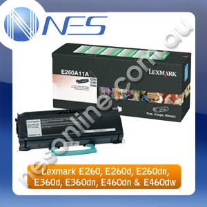 Lexmark Genuine E260A11P BLACK Return Program Toner Cartridge for E260/E260d/E260dn/E360d/E360dn/E460dn/E460dw Printer (3.5K Yield)