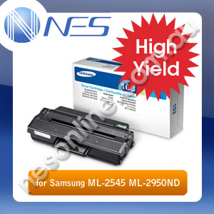 Samsung Genuine MLT-D103L High Yield BLACK Toner MLTD103L for ML-2545/ML-2950ND/ML-2955ND/SCX-4729 (2.5K Yield) SU718A