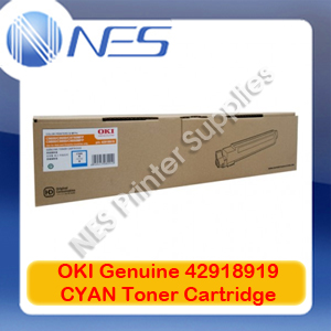 OKI Genuine 42918919 CYAN Toner Cartridge for C9600/C9650/C9800/C9850 (15K)