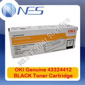 OKI Genuine 43324412 BLACK Toner Cartridge for C5600/C5700 (6K)