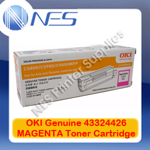OKI Genuine 43324426 MAGENTA Toner Cartridge for C5550 MFP/C5800/C5900 (5K)