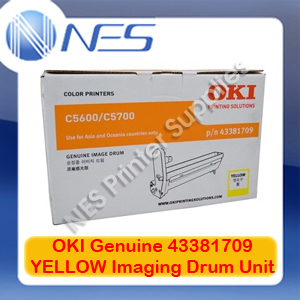 OKI Genuine 43381709 YELLOW Imaging Drum Unit for C5600/C5700 (20K)