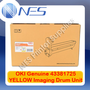 OKI Genuine 43381725 YELLOW Imaging Drum Unit for C5550 MFP/C5800/C5900 (20K)