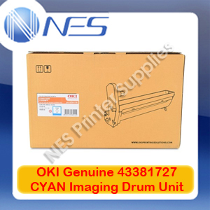 OKI Genuine 43381727 CYAN Imaging Drum Unit for C5550 MFP/C5800/C5900 (20K)