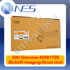 OKI Genuine 43381728 BLACK Imaging Drum Unit for C5550 MFP/C5800/C5900 (20K)