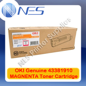 OKI Genuine 43381910 MAGENTA Toner Cartridge for C5600/C5700 (2K)