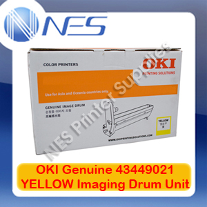 OKI Genuine 43449021 YELLOW Imaging Drum Unit for C8600/C8800 (20K)