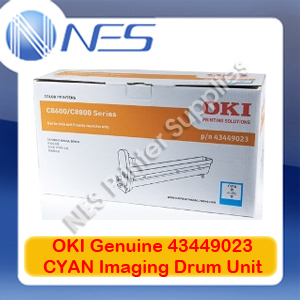 OKI Genuine 43449023 CYAN Imaging Drum Unit for C8600/C8800 (20K)