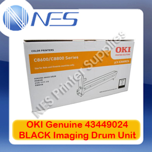 OKI Genuine 43449024 BLACK Imaging Drum Unit for C8600/C8800 (20K)