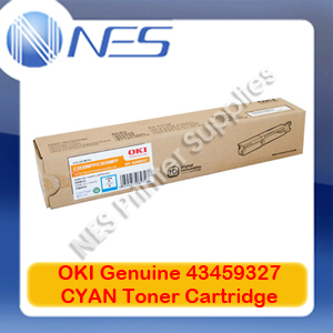 OKI Genuine 43459327 CYAN Toner Cartridge for C3520MFP/C3530MFP (2K)