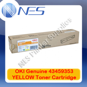 OKI Genuine 43459353 YELLOW Toner Cartridge for C3300/C3400/C3600N (2.5K)