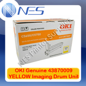 OKI Genuine 43870009 YELLOW Imaging Drum Unit for C5650/C5750 (20K)