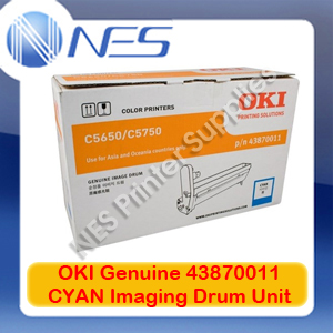 OKI Genuine 43870011 CYAN Imaging Drum Unit for C5650/C5750 (20K)