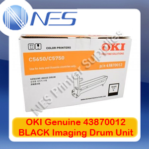 OKI Genuine 43870012 BLACK Imaging Drum Unit for C5650/C5750 (20K)