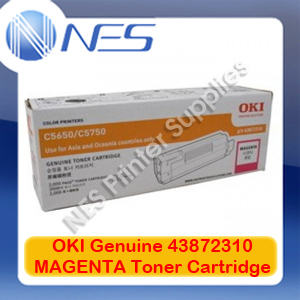 OKI Genuine 43872310 MAGENTA Toner Cartridge for C5650/C5750 (2K)