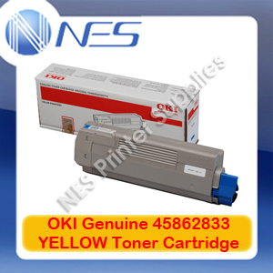 OKI Genuine 45862833 YELLOW Toner Cartridge for ES8473/ES8473dn/ES8473dnct/ES8473dnx/ES8473dnv (8.8K)