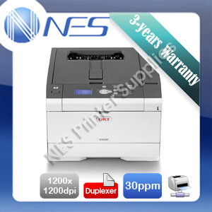 OKI C532dn Color Laser Network Printer+Duplex+BONUS 3 Year Warranty P/N:46356103