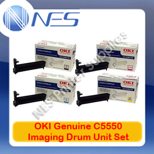 OKI Genuine 43381725-43381728 BK/C/M/Y (Set of 4) Imaging Drum Unit for C5550 MFP/C5800/C5900