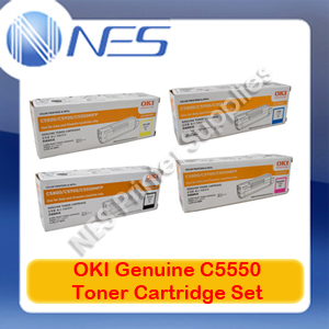OKI Genuine 43324425-43324428 BK/C/M/Y (Set of 4) Toner Cartridge for C5550MFP/C5800/C5900