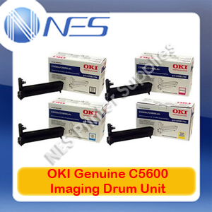 OKI Genuine 43381709-43381712 BK/C/M/Y (Set of 4) Imaging Drum Unit for C5600/C5700 (20K*4)