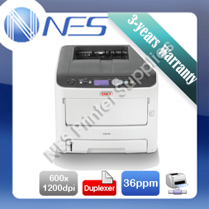 OKI C612dn Color Laser Network Printer+Duplex+BONUS 3 Yr Warranty P/N:46406004DN