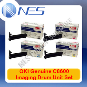 OKI Genuine 43449021-43449024 BK/C/M/Y (Set of 4) Imaging Drum Unit for C8600/C8800