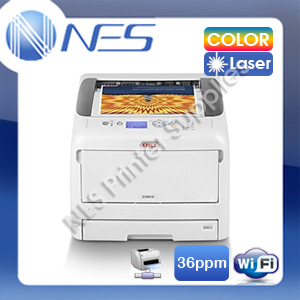 OKI C834nw A3/A4 Color Laser Wireless Network Printer+3-Year Warranty