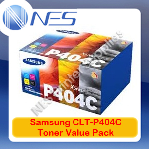 Samsung Genuine CLT-P404C Value Pack (4x Toner Set) for SL-C430W/SL-C480FW 404S (SU371A)