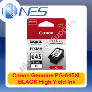 Canon PG-645XL Genuine Black High Yield Ink Cartridge for MG2560 Printer 400xPages [PG645XL]