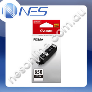 Canon Genuine PGI650BK BLACK Ink Cartridge for IP7260 MG5460 MG6360 [PGI-650BK]