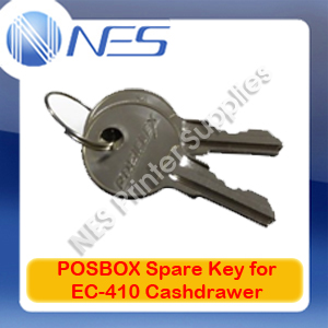 POSBOX Genuine Spare Key (Set of 2) for EC-410 Cashdrawer 1323009 (KEY-EC410)