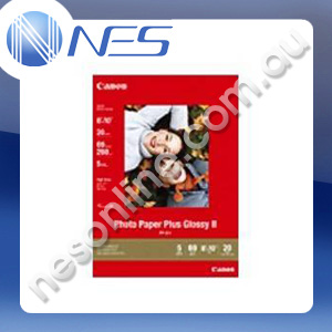 Canon A4 Glossy II Photo Paper Plus 260gsm (20x sheets) [P/N:PP201A4]