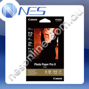 "Canon PR201 4x6"" High Quality Photo Paper 245gsm (20x Sheets) [P/N:PR2014X6-20]"