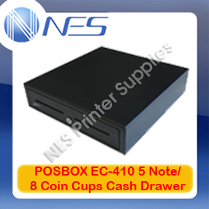 POSBOX EC-410 5 Note/8 Coin Cups Cash Drawer (EC-410 BLACK) 1323009