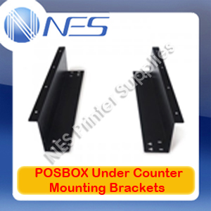 POSBOX Genuine Under Counter Mounting Brackets for EC-410 Cash Drawer (BLACK)