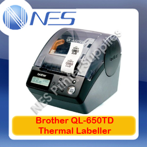 Brother QL-650TD Professional Desktop Thermal Labeller+Auto Cutter 62MM Labels