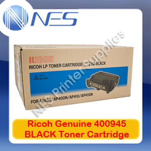 Ricoh Genuine 400945 BLACK Toner Cartridge for AP400/AP410 (TYPE-220) 15K Pages