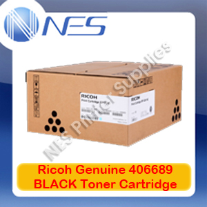 Ricoh Genuine 406689 BLACK Toner Cartridge for SP-5200DN/5200S/5210DN/5210SR (25K)