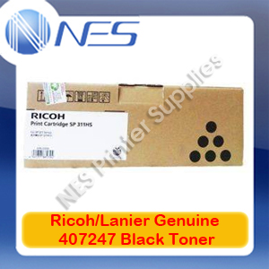 Lanier/Ricoh Genuine 407247 BLACK Toner for SP311HS for SP311SFNW/SP311DNW (3.5K)