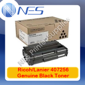 Lanier/Ricoh Genuine 407256 BLACK Toner Cartridge for SP201N/SP204SF/SP213NW/SP213SFNW (2.6K)
