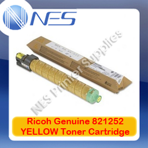 Ricoh Genuine 821252 YELLOW Toner Cartridge for Aficio SP-C435DN (13K)