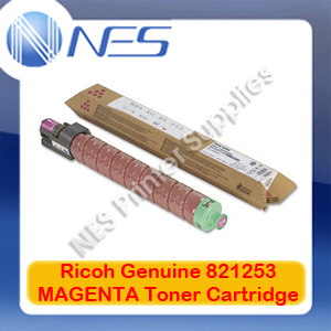 Ricoh Genuine 821253 MAGENTA Toner Cartridge for Aficio SP-C435DN (13K)