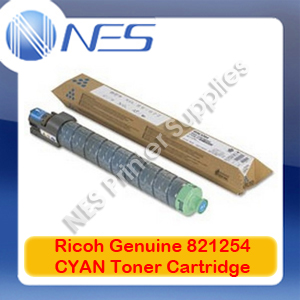 Ricoh Genuine 821254 CYAN Toner Cartridge for Aficio SP-C435DN (13K)