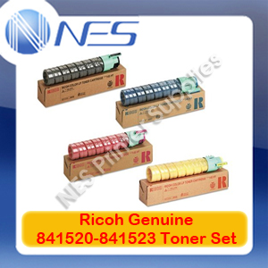 Ricoh Genuine 841520-841523 (Set of 4) Toner Cartridge Set for MP-C2051/MP-C2501/MP-C2551