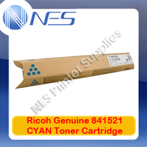 Ricoh Genuine 841521 CYAN Toner Cartridge for MP-C2030/MP-C2050/MP-C2051/MP-C2501/MP-C2530 (9.5K)